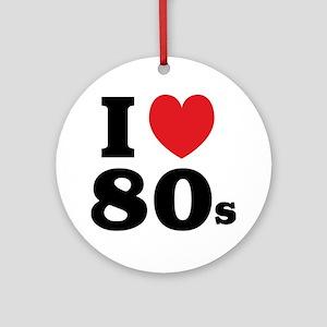 I Heart 80s Ornament (Round)