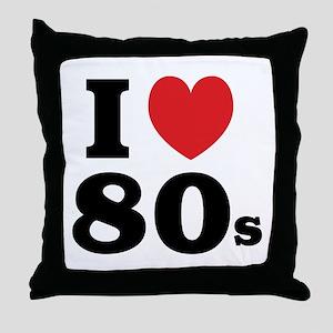 I Heart 80s Throw Pillow