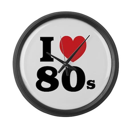 I Heart 80s Large Wall Clock