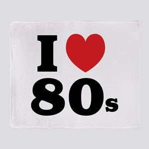 I Heart 80s Throw Blanket