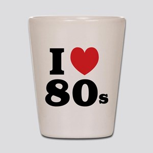 I Heart 80s Shot Glass
