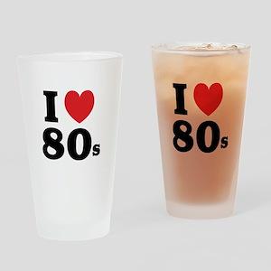 I Heart 80s Drinking Glass