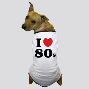 I Heart 80s Dog T-Shirt