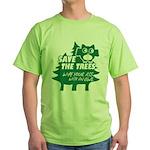 Owl T-shirts Green T-Shirt