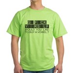 go f yourself t-shirts Green T-Shirt