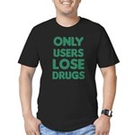 users lose drugs t-shirts Men's Fitted T-Shirt (da