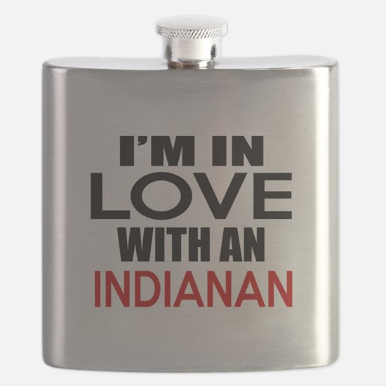 I Am In Love With Indianan Flask