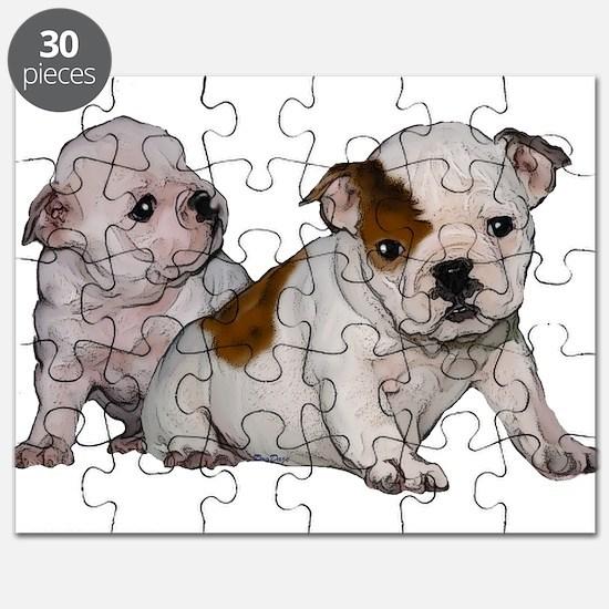 bulldog babies Puzzle