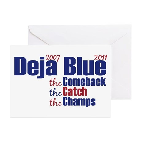 Deja Blue Giants Greeting Cards (Pk of 20)