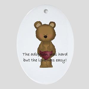 Adoption Bear Ornament (Oval)