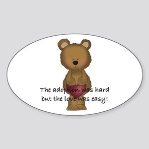 Adoption Bear Sticker (Oval)