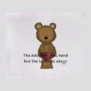 Adoption Bear Throw Blanket