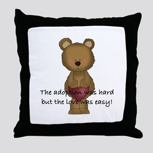 Adoption Bear Throw Pillow