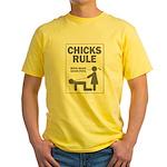 chicks rule boys make good pe Yellow T-Shirt