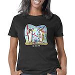 corgipaintwar_blk Women's Classic T-Shirt