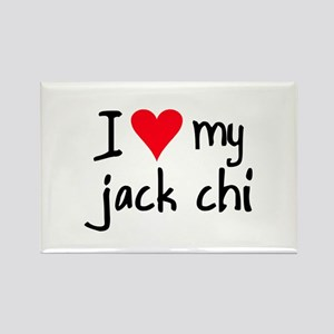 I LOVE MY Jack Chi Rectangle Magnet