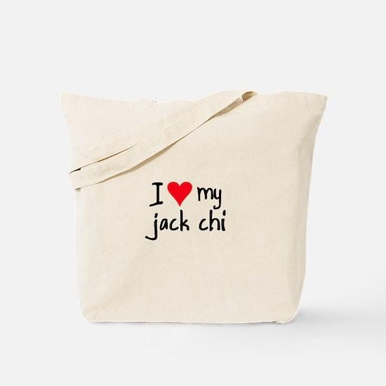 I LOVE MY Jack Chi Tote Bag