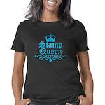 stamp_queen_blue Women's Classic T-Shirt