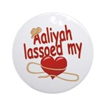 Aaliyah Lassoed My Heart Ornament (Round)