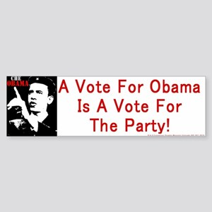 Obama Party Bumperstickers Bumper Sticker