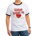 Addison Lassoed My Heart Ringer T