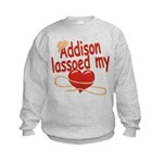 Addison Lassoed My Heart Kids Sweatshirt