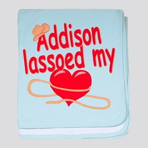 Addison Lassoed My Heart baby blanket