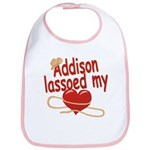 Addison Lassoed My Heart Bib