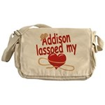 Addison Lassoed My Heart Messenger Bag