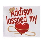 Addison Lassoed My Heart Throw Blanket
