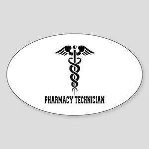 Pharmacy Tech Caduceus Sticker (Oval)