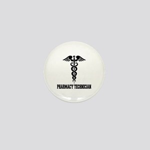 Pharmacy Tech Caduceus Mini Button