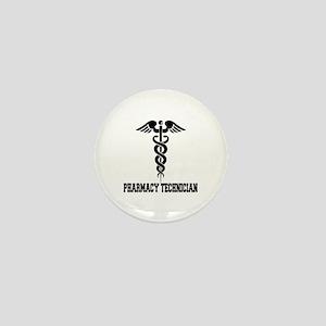 Pharmacy Tech Caduceus Mini Button