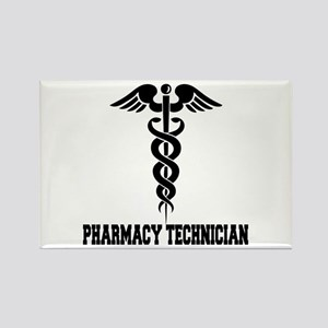 Pharmacy Tech Caduceus Rectangle Magnet