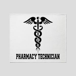 Pharmacy Tech Caduceus Throw Blanket
