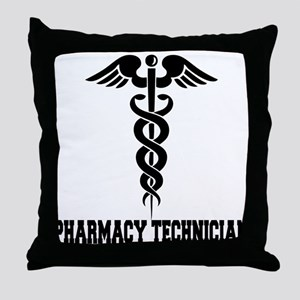 Pharmacy Tech Caduceus Throw Pillow