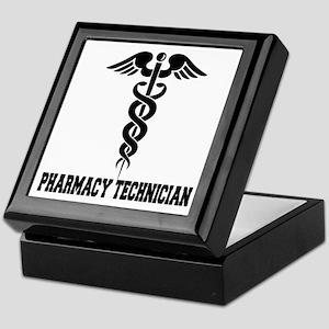Pharmacy Tech Caduceus Keepsake Box