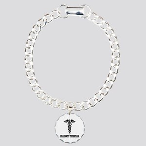 Pharmacy Tech Caduceus Charm Bracelet, One Charm