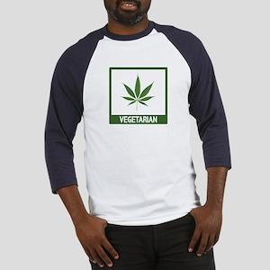 Marijuana Vegetarian Humor Baseball Jersey
