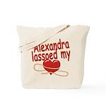 Alexandra Lassoed My Heart Tote Bag