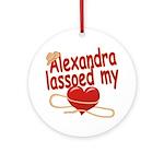 Alexandra Lassoed My Heart Ornament (Round)