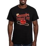 Alexandra Lassoed My Heart Men's Fitted T-Shirt (d