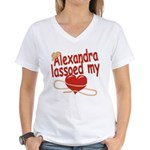 Alexandra Lassoed My Heart Women's V-Neck T-Shirt