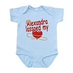 Alexandra Lassoed My Heart Infant Bodysuit
