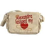 Alexandra Lassoed My Heart Messenger Bag