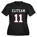 Team Women's Plus Size V-Neck Dark T-Shirt
