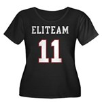 Team Women's Plus Size Scoop Neck Dark T-Shirt