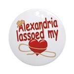 Alexandria Lassoed My Heart Ornament (Round)