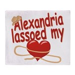 Alexandria Lassoed My Heart Throw Blanket