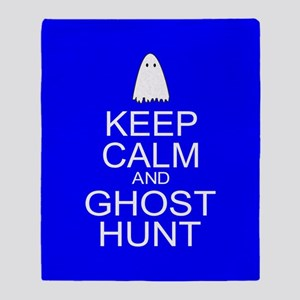 Keep Calm Ghost Hunt (Parody) Throw Blanket